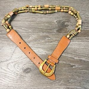 Limited Leather Beaded Boho Festival Hippy Belt